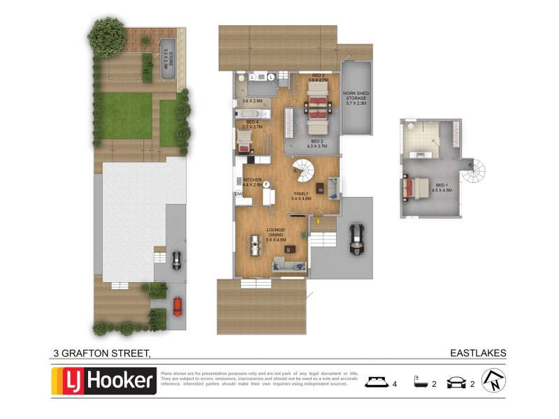 3 Grafton Street, Eastlakes NSW 2018 Floorplan
