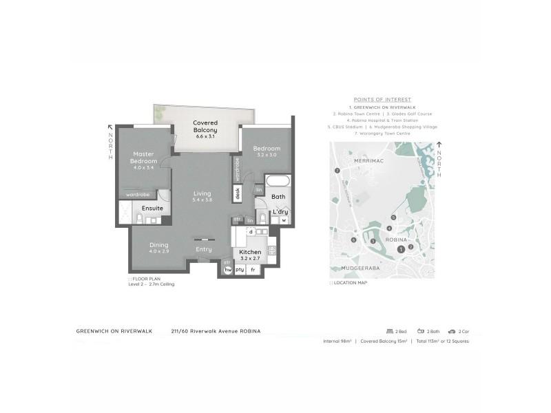 223/60 Riverwalk Avenue, Robina QLD 4226 Floorplan