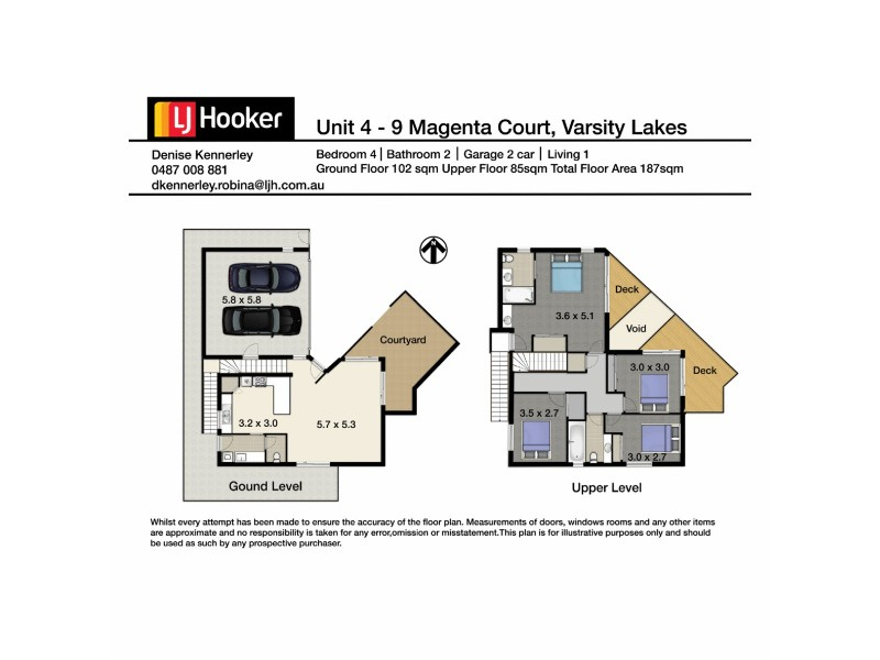 4/9 Magenta Drive, Varsity Lakes QLD 4227 Floorplan