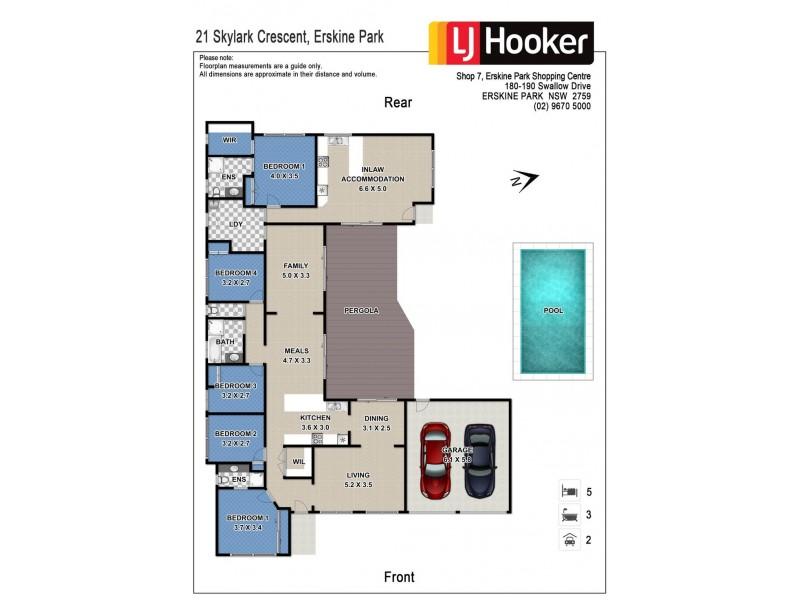 21 Skylark Crescent, Erskine Park NSW 2759 Floorplan