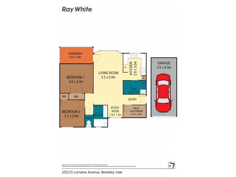 105/15 Lorraine Avenue, Berkeley Vale NSW 2261 Floorplan