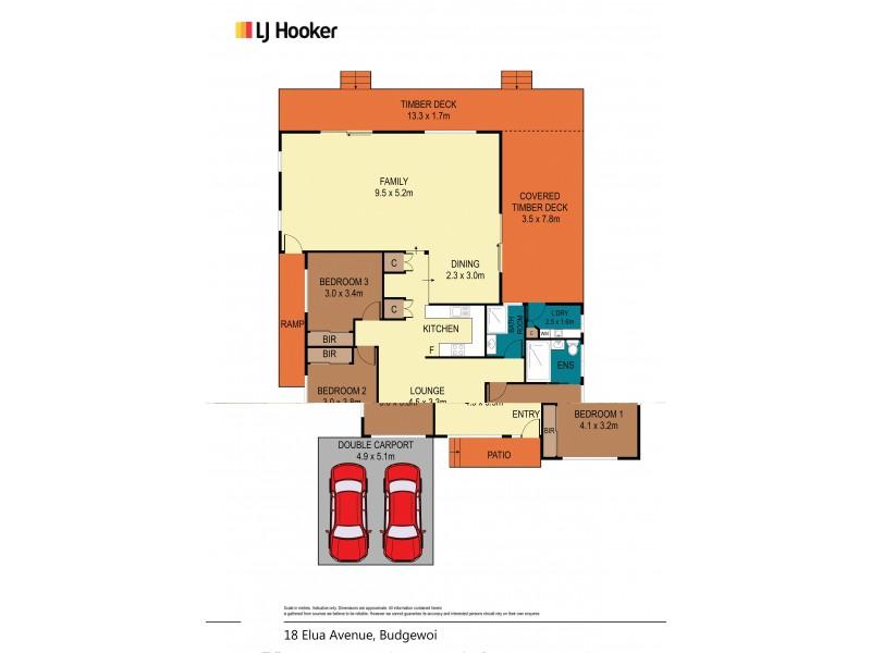 18 Elua Avenue, Budgewoi NSW 2262 Floorplan