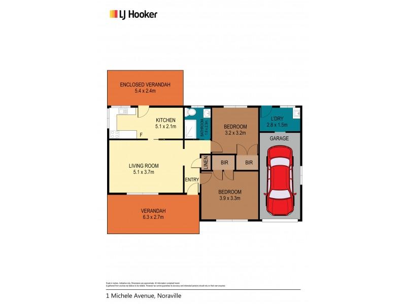 1 Michele Avenue, Noraville NSW 2263 Floorplan