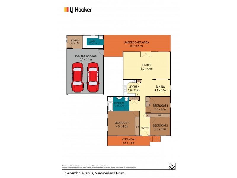 17 Anembo Avenue, Summerland Point NSW 2259 Floorplan