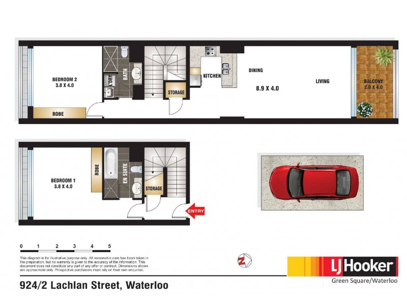 924/2-4 Lachlan Street, Waterloo NSW 2017 Floorplan