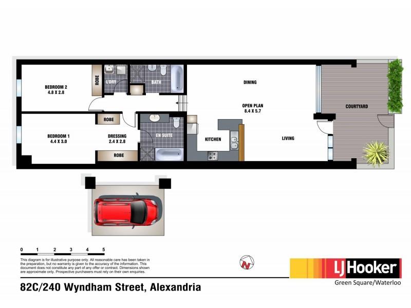 82C/240 Wyndham Street, Alexandria NSW 2015 Floorplan