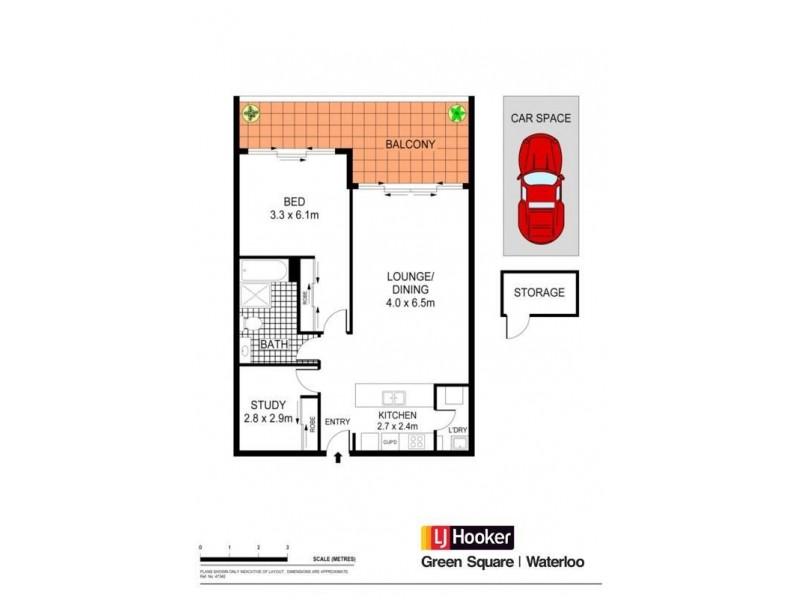 336/26 Jasmine Street, Botany NSW 2019 Floorplan
