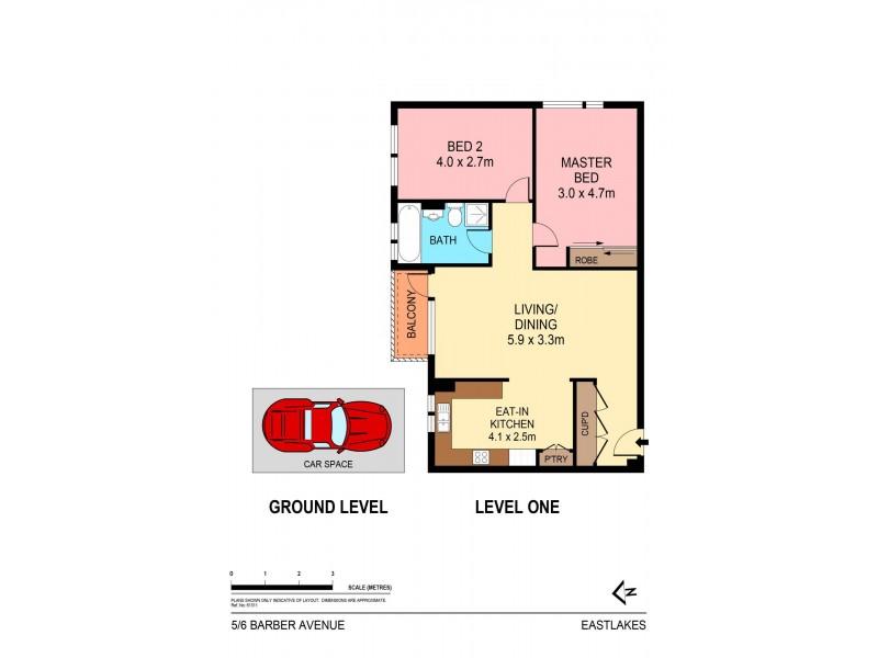 5/6 Barber Avenue, Eastlakes NSW 2018 Floorplan