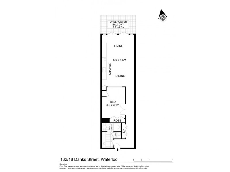 132/18 Danks Street, Waterloo NSW 2017 Floorplan