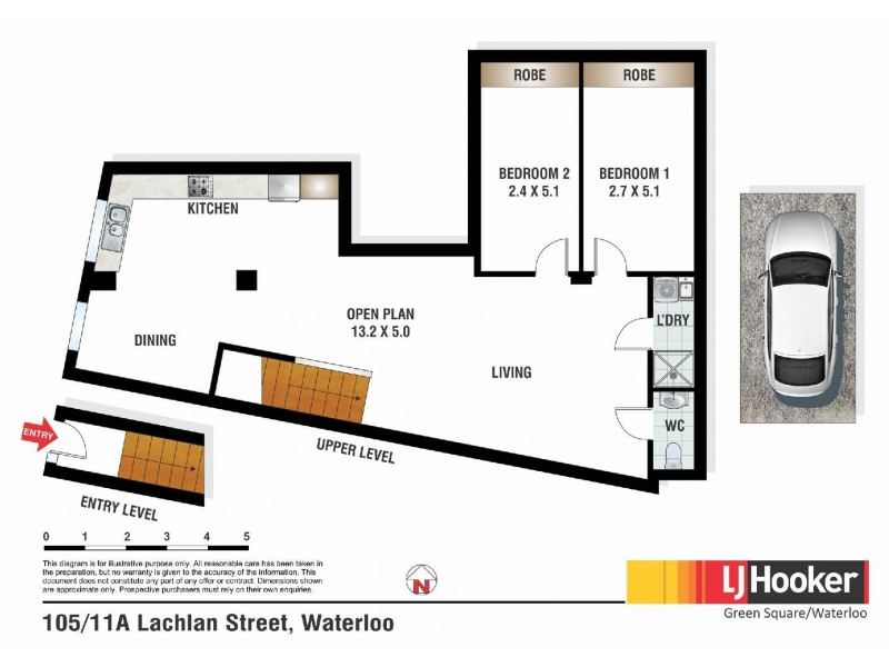 105/11A Lachlan Street, Waterloo NSW 2017 Floorplan