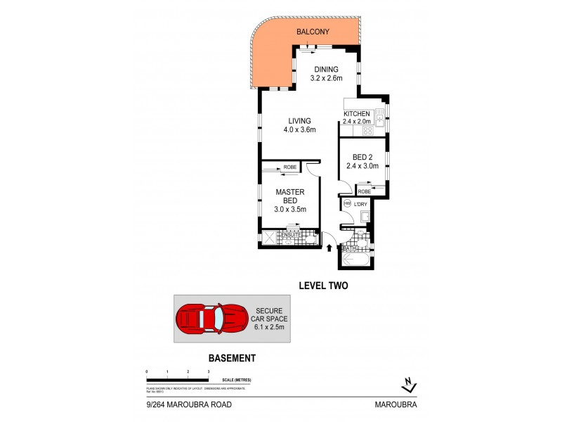 9/264 Maroubra Road, Maroubra NSW 2035 Floorplan