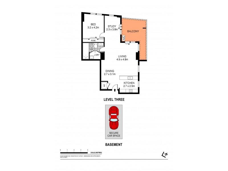 5302/42 Pemberton Street, Botany NSW 2019 Floorplan