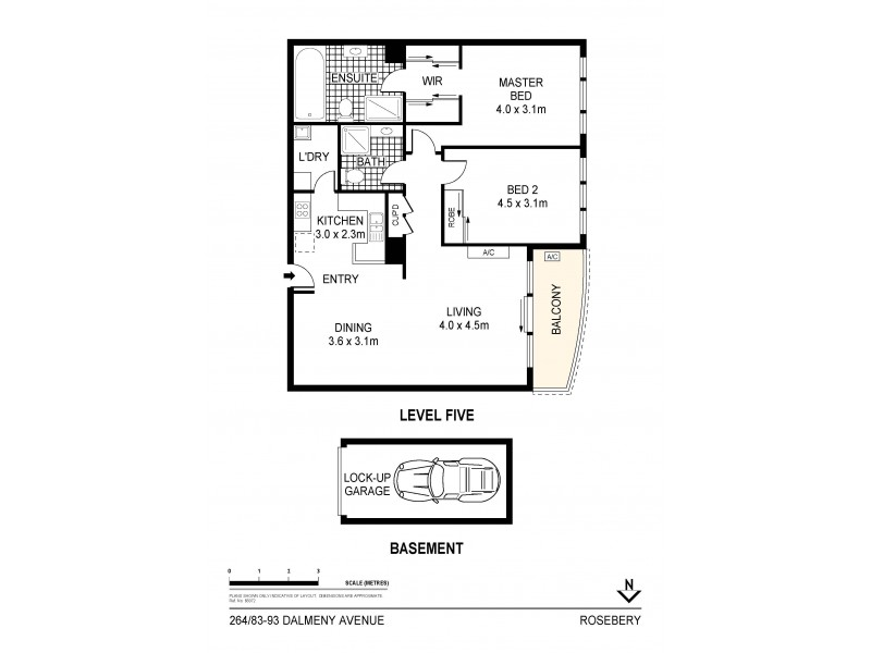 264/83-93 Dalmeny Avenue, Rosebery NSW 2018 Floorplan