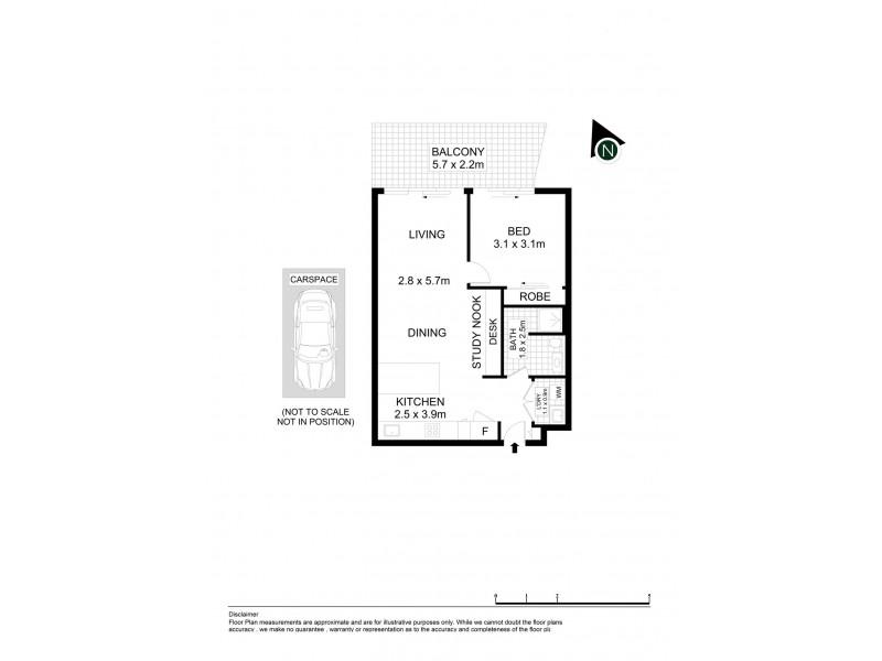503/20 Dunkerley Place, Waterloo NSW 2017 Floorplan
