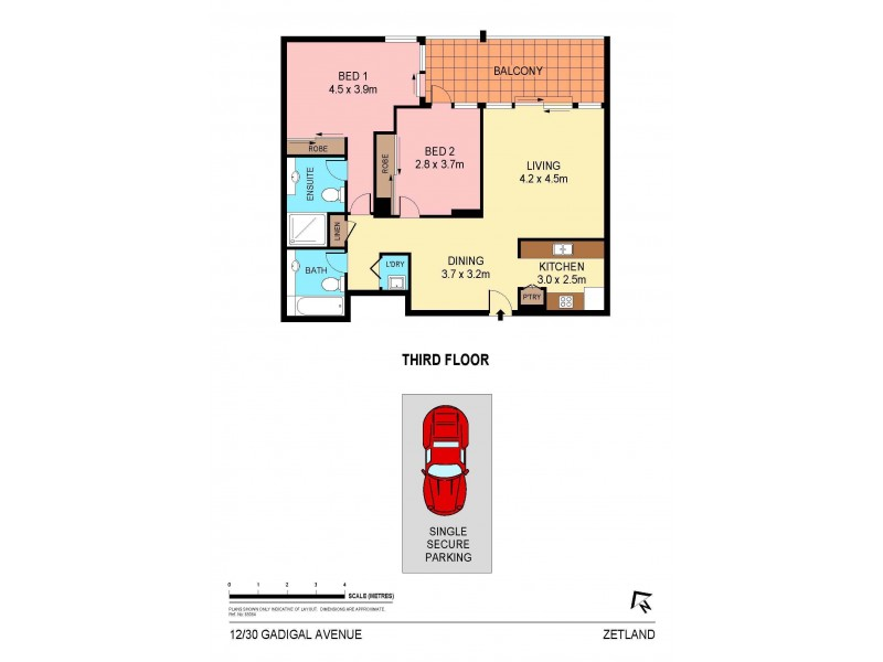 12/30 Gadigal Avenue, Zetland NSW 2017 Floorplan