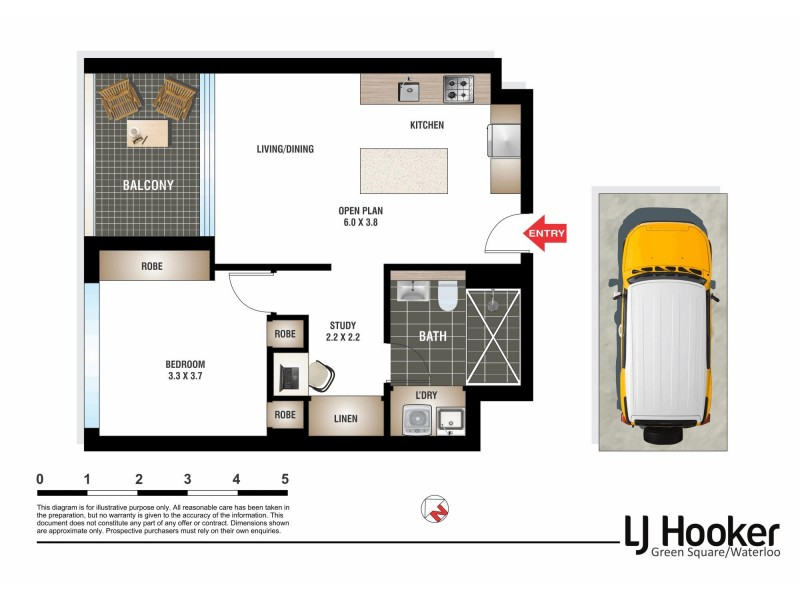 314/9 Archibald Avenue, Waterloo NSW 2017 Floorplan