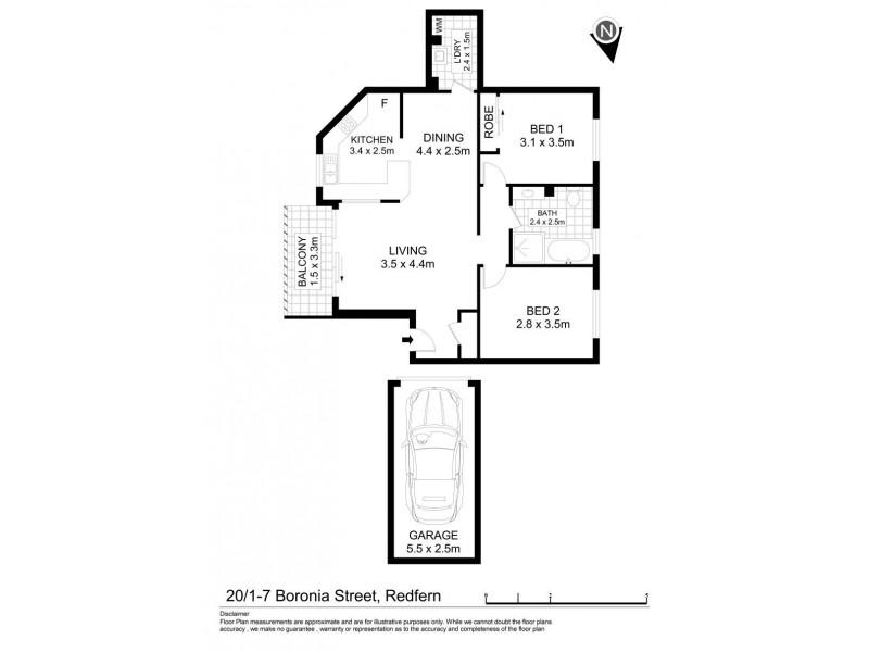 20/1-7 Boronia Street, Redfern NSW 2016 Floorplan