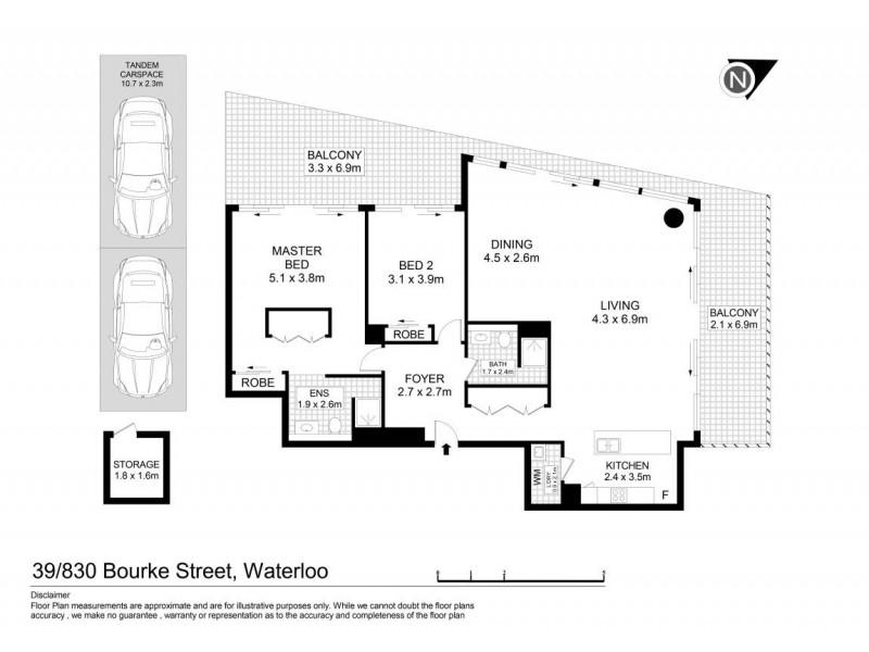 39/830 Bourke Street, Waterloo NSW 2017 Floorplan