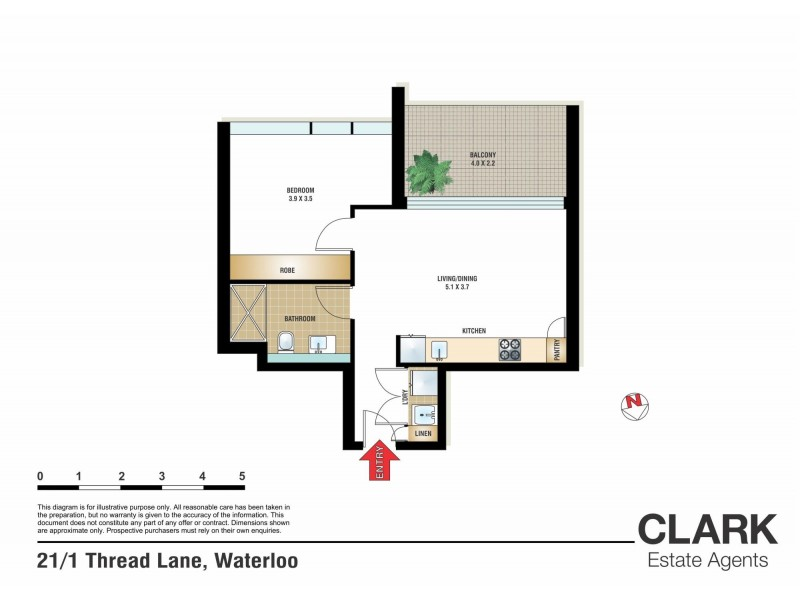 21/1 Thread Lane, Waterloo NSW 2017 Floorplan