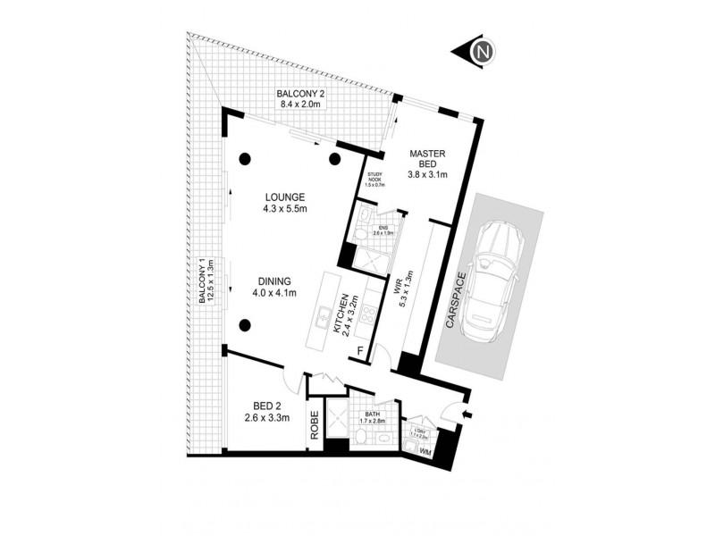 16/1 Thread Lane, Waterloo NSW 2017 Floorplan