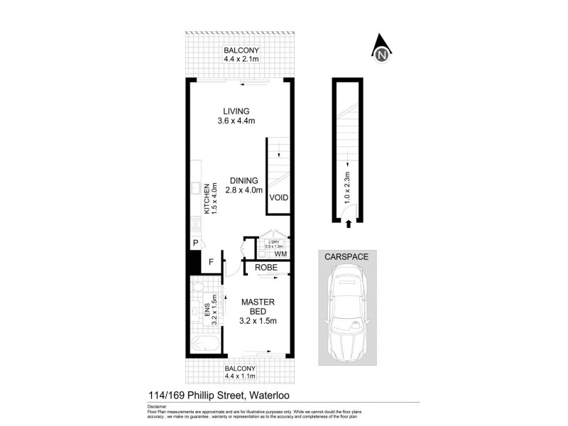 114/169 Phillip Street, Waterloo NSW 2017 Floorplan
