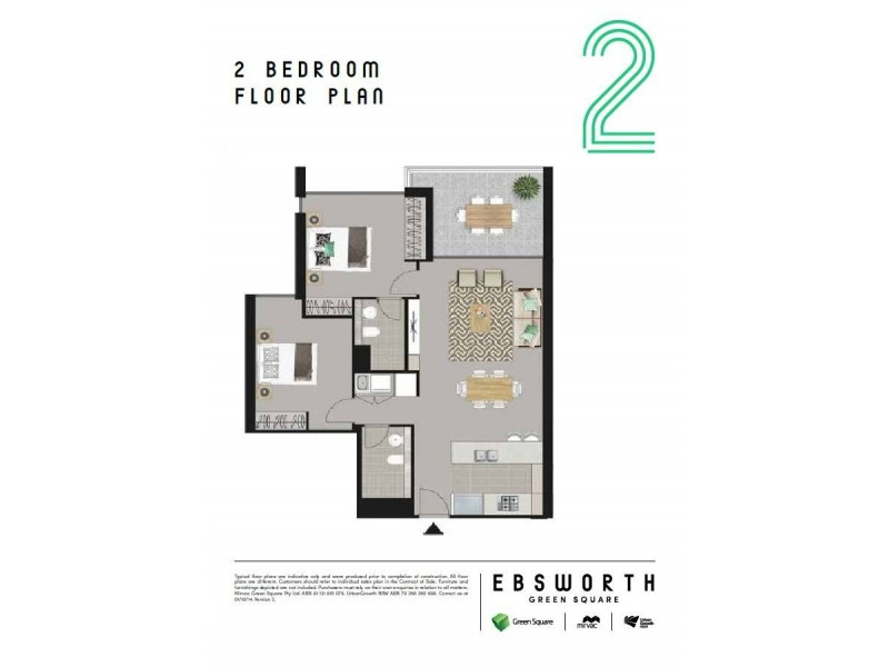 B701/6 Ebsworth Street, Zetland NSW 2017 Floorplan