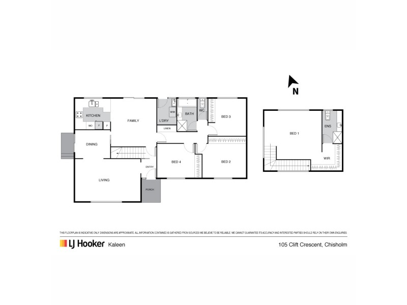 105 Clift Crescent, Chisholm ACT 2905 Floorplan