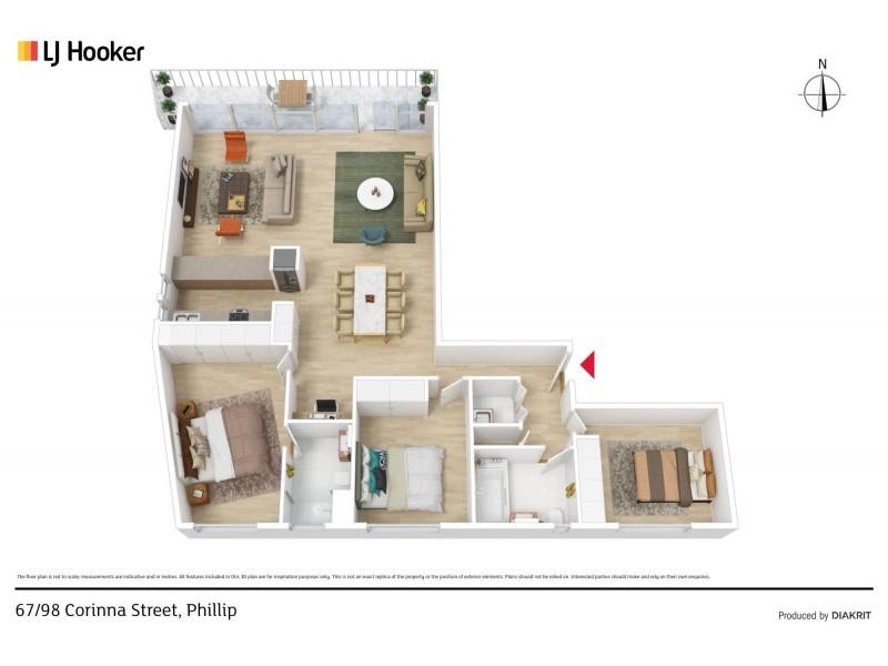 67/98 Corinna Street, Phillip ACT 2606 Floorplan