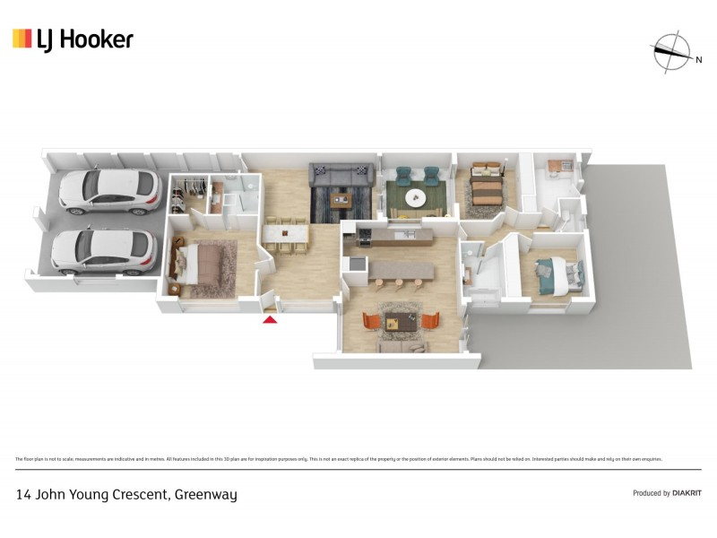 14 John Young Crescent, Greenway ACT 2900 Floorplan