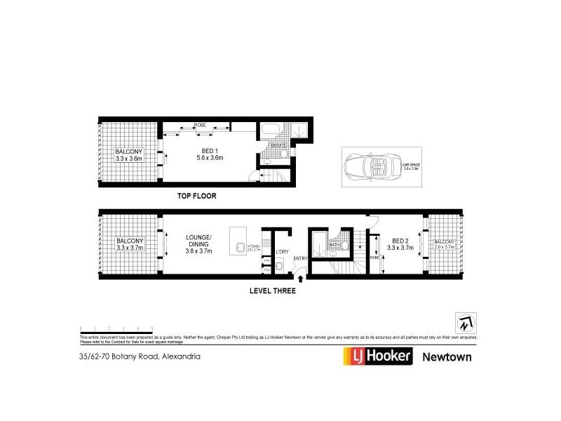 35/62-72 Botany Road, Alexandria NSW 2015 Floorplan