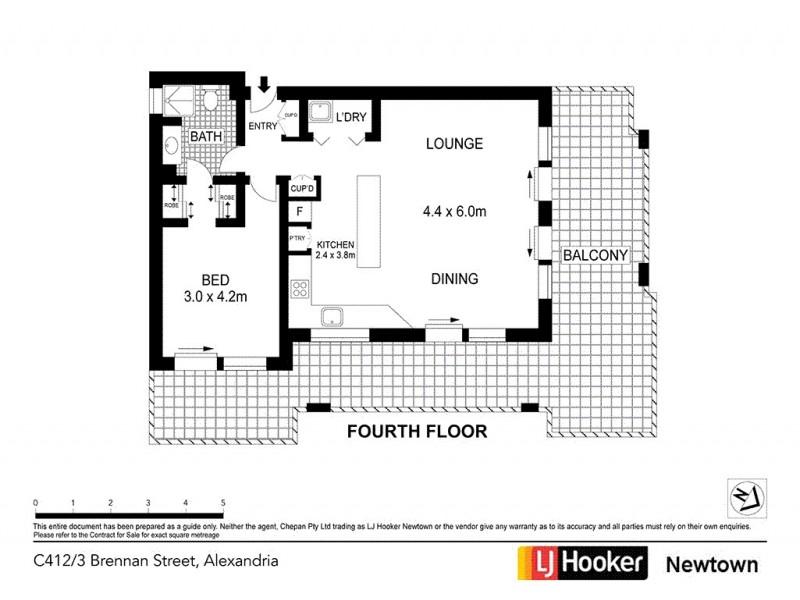 C412/3 Brennan Street, Alexandria NSW 2015 Floorplan