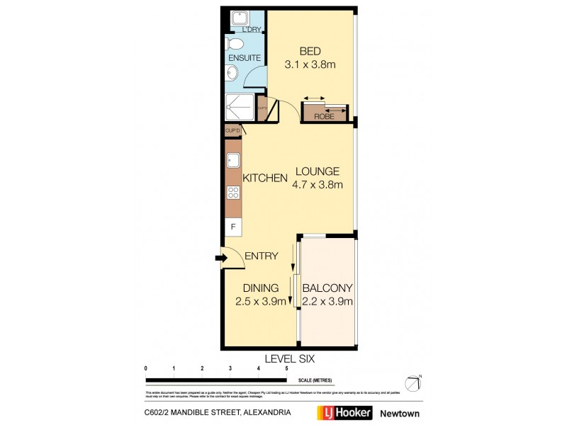 C602/2-6 Mandible Street, Alexandria NSW 2015 Floorplan