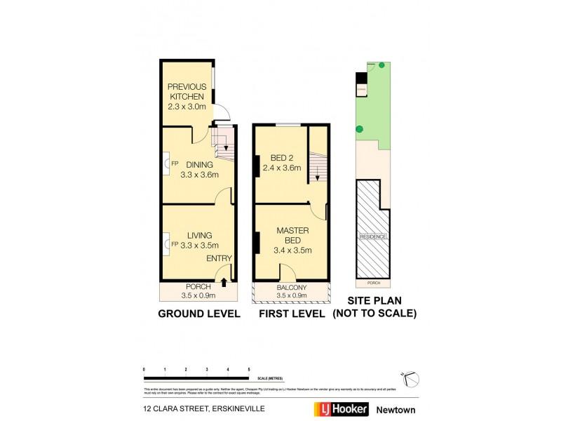 12 Clara Street, Erskineville NSW 2043 Floorplan