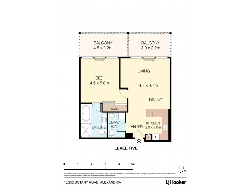 A43/252 Botany Road, Alexandria NSW 2015 Floorplan