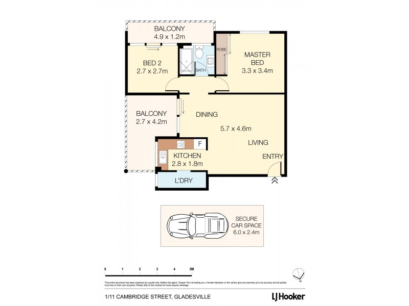 1/11 Cambridge Street, Gladesville NSW 2111 Floorplan