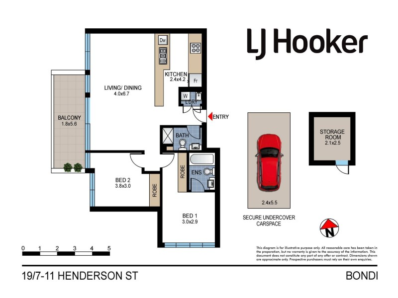 19/7-11 Henderson Street, Bondi NSW 2026 Floorplan