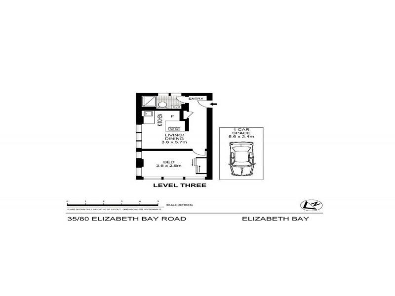 35/80 Elizabeth Bay Road, Elizabeth Bay NSW 2011 Floorplan