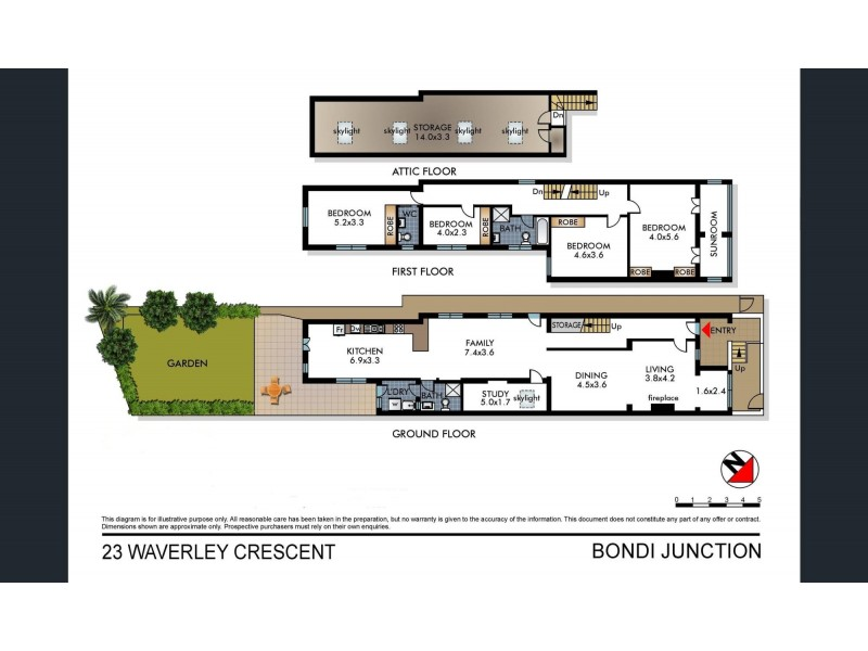 23 Waverley Crescent, Bondi Junction NSW 2022 Floorplan