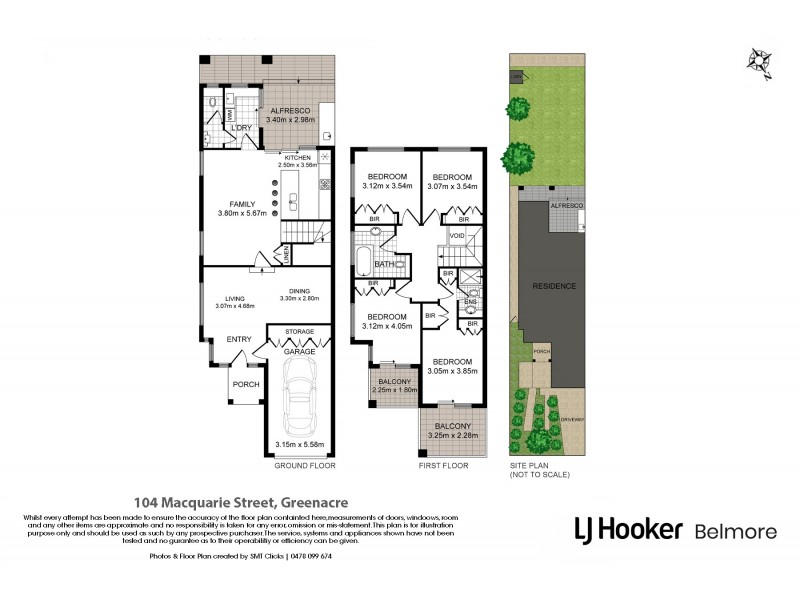 104 Macquarie Street, Greenacre NSW 2190 Floorplan