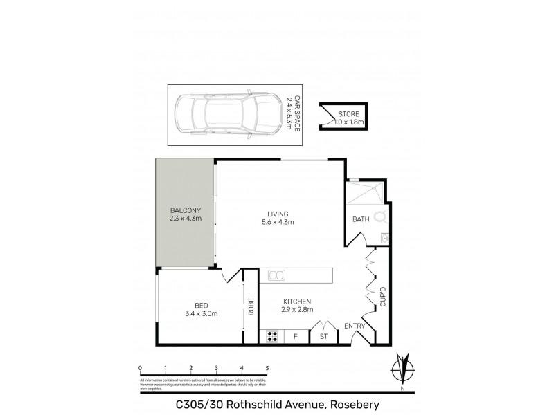 C503/30 Rothchild Avenue, Rosebery NSW 2018 Floorplan