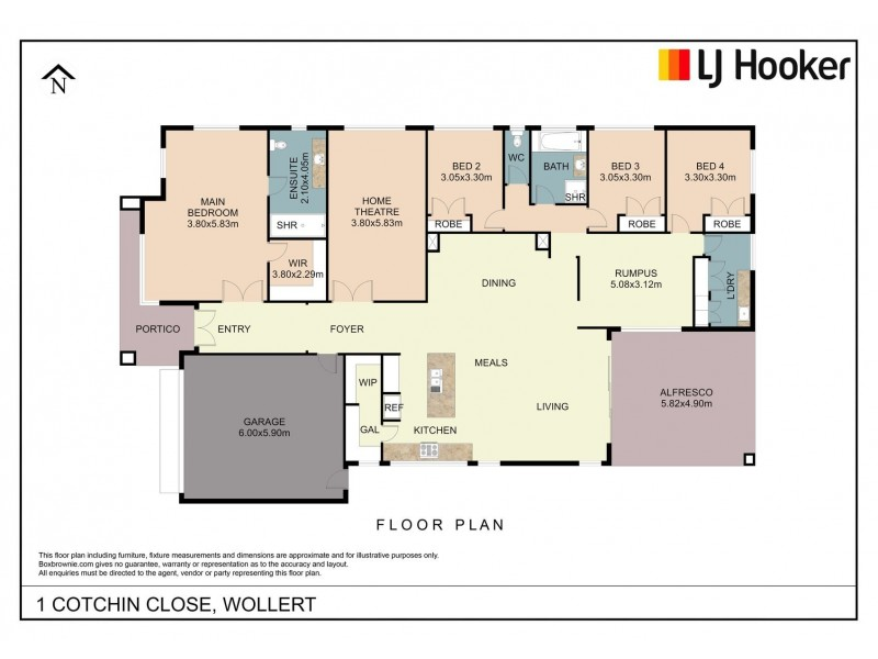 1 Cotchin Close, Wollert VIC 3750 Floorplan