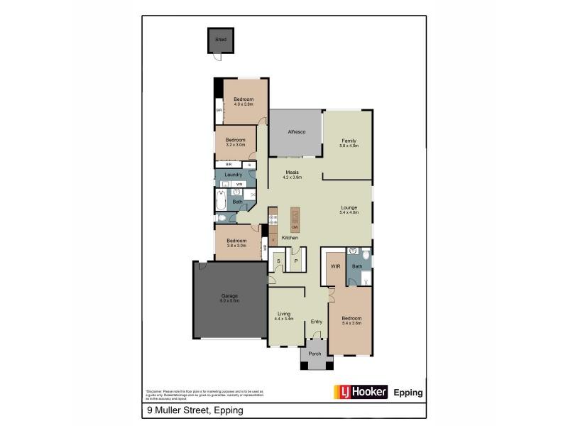 9 Muller Street, Epping VIC 3076 Floorplan