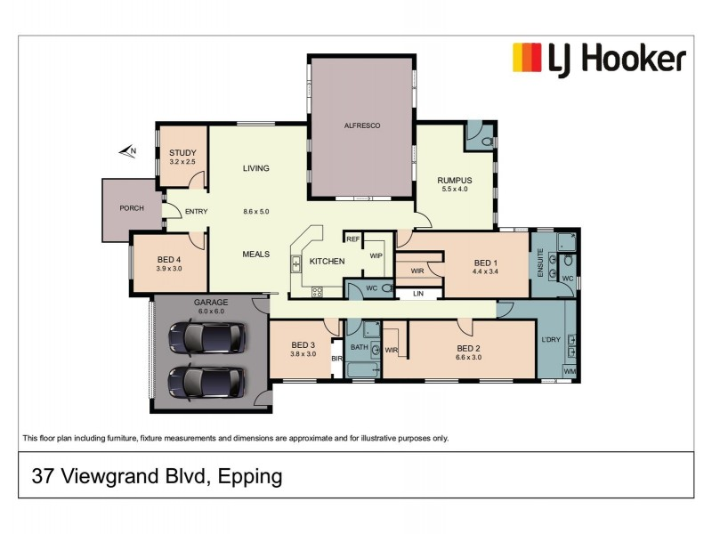 37 Viewgrand Boulevard, Epping VIC 3076 Floorplan