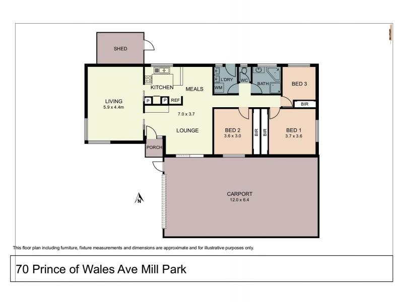 70 Prince of Wales Avenue, Mill Park VIC 3082 Floorplan