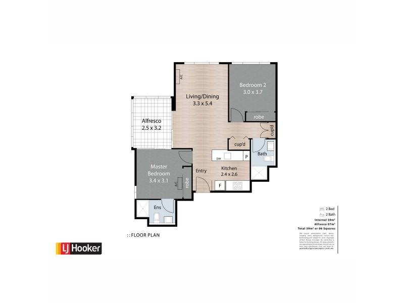 406D/191 Constance Street, Bowen Hills QLD 4006 Floorplan