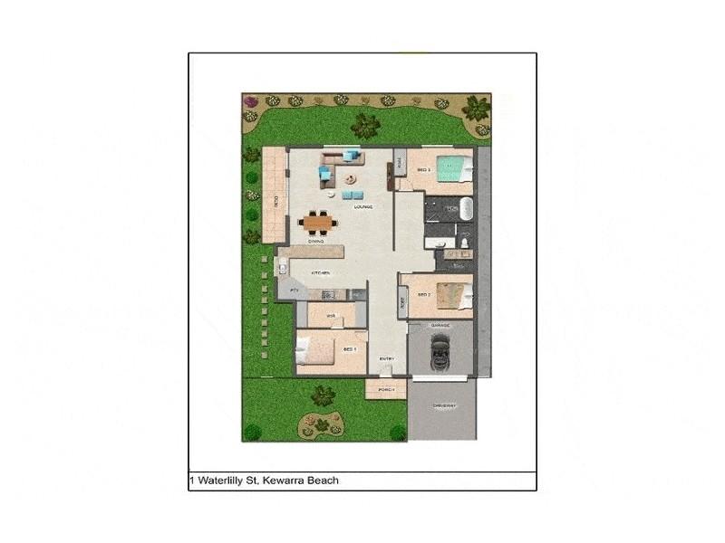 1 Waterlilly Street, Kewarra Beach QLD 4879 Floorplan
