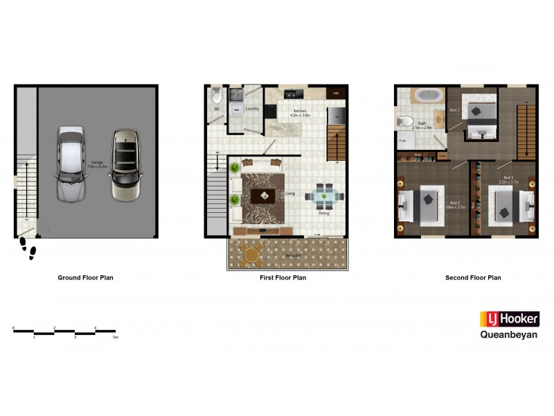 1/2 Doyle Place, Queanbeyan NSW 2620 Floorplan