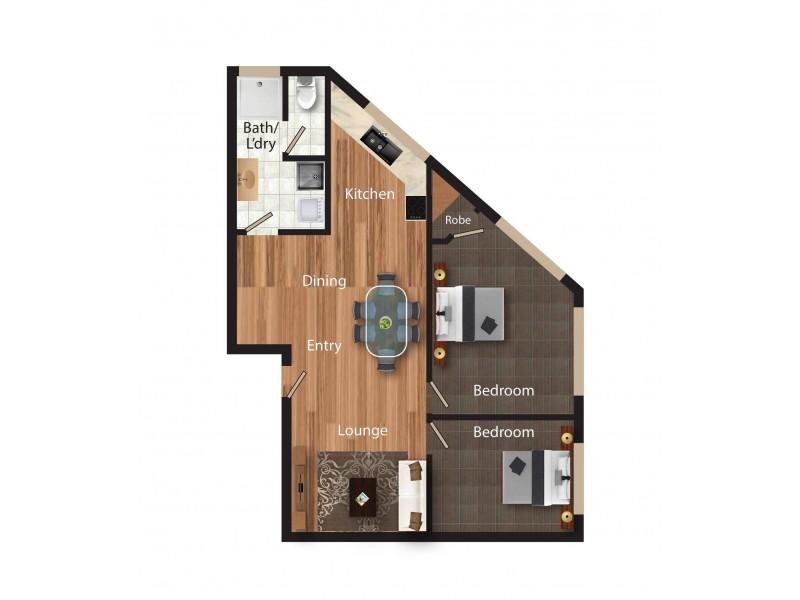 2/18 Trinculo Place, Queanbeyan NSW 2620 Floorplan