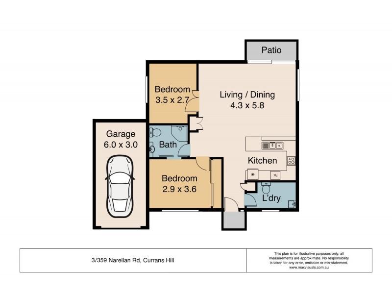 3/359 Narellan Road, Currans Hill NSW 2567 Floorplan