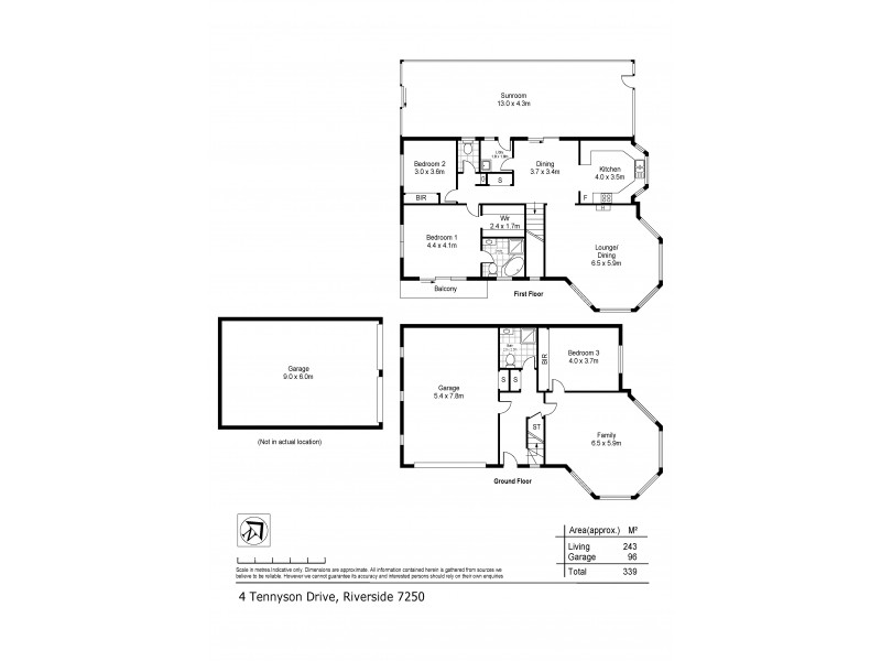 4 Tennyson Drive, Riverside TAS 7250 Floorplan